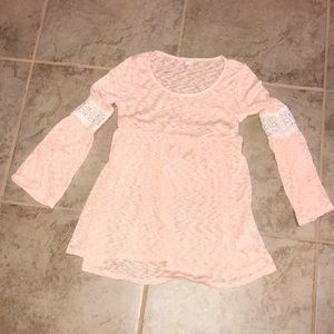 Peach maternity blouse